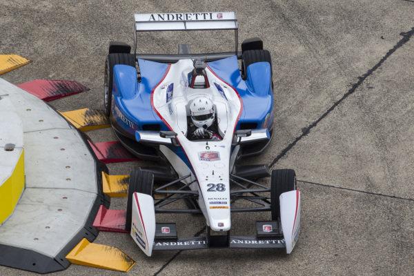 Scott Speed (USA) Andretti Autosport at Formula E Championship, Rd8, Berlin, Germany, 23  May 2015.