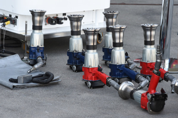 Sauber F1 team Pitstop wheel guns at Formula One World Championship, Rd1, Australian Grand Prix, Preparations, Albert Park, Melbourne, Australia, Wednesday 11  March 2015.