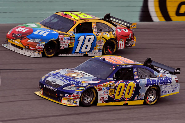 20-22 November, 2009, Homestead, Florida, USADavid Reutimann and Kyle Busch cars.©2009, LAT South, USALAT Photographic