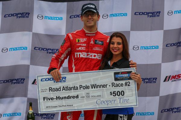 30 September - 2 October, 2015, Braselton, Georgia USA IMSA Lites, Race 2, Pole Award ?2015, Jake Galstad LAT Photo USA