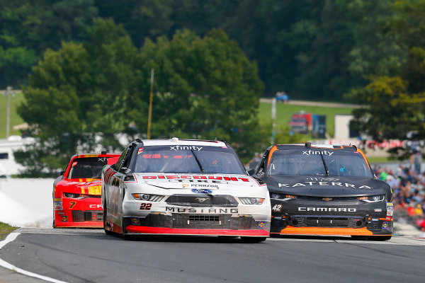 NASCAR XFINITY Series Johnsonville 180 Road America, Elkhart Lake, WI USA Sunday 27 August 2017 Austin Cindric, Discount Tire Ford Mustang and Justin Marks, Katerra Chevrolet Camaro World Copyright: Russell LaBounty LAT Images