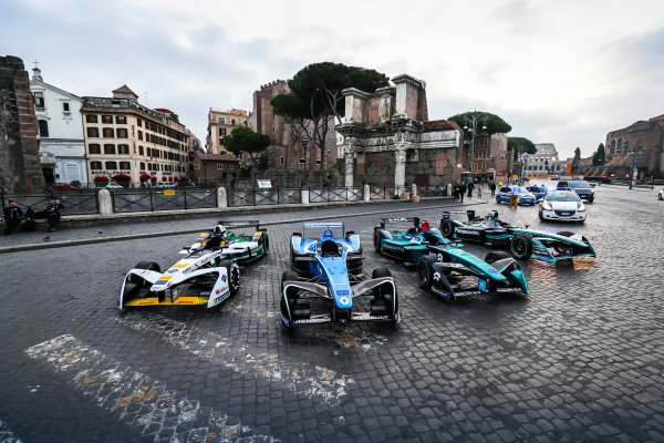 2017/2018 FIA Formula E Championship. Street Demonstration - Rome, Italy. Thursday 19 October 2017. Photo: Malcom Griffiths/LAT/Formula E ref: Digital Image IMG_8944