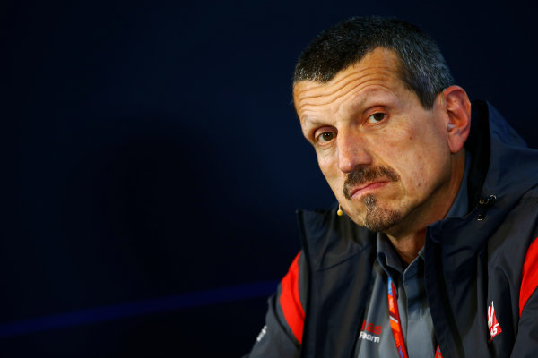 Spa Francorchamps, Belgium.  Friday 25 August 2017. Guenther Steiner, Team Principal, Haas F1, in the Team Principals Press Conference. World Copyright: Andy Hone/LAT Images  ref: Digital Image _ONZ9393