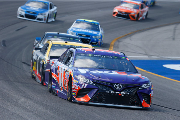 Monster Energy NASCAR Cup Series Toyota Owners 400 Richmond International Raceway, Richmond, VA USA Sunday 30 April 2017 Denny Hamlin, Joe Gibbs Racing, FedEx Ground Toyota Camry and Jamie McMurray, Chip Ganassi Racing, GearWrench Chevrolet SS World Copyright: Russell LaBounty LAT Images ref: Digital Image 17RIC1Jrl_5660