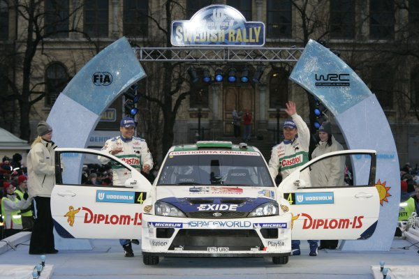 2005 FIA World Rally Championship Round 2, Swedish Rally. 10th - 13th February 2005. Henning Solberg, (Ford Focus WRC), 5th position, with co-driver Cato Menkerud, portrait. World Copyright: McKlein/LAT Photographic. ref: Digital Image Only.