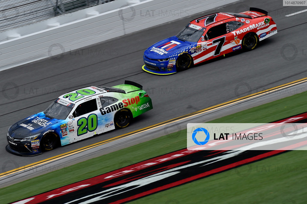 NASCAR XFINITY Series Coca-Cola Firecracker 250 Daytona International Speedway, Daytona Beach, FL USA Saturday 1 July 2017 Erik Jones, GameStop/Turtle Beach Toyota Camry and Elliott Sadler, Tommy Baldwin Racing, Golden Corral Chevrolet SS World Copyright: Rusty Jarrett LAT Images
