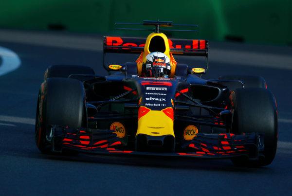 Baku City Circuit, Baku, Azerbaijan. Friday 23 June 2017. Daniel Ricciardo, Red Bull Racing RB13 TAG Heuer.  World Copyright: Steven Tee/LAT Images ref: Digital Image _O3I1770