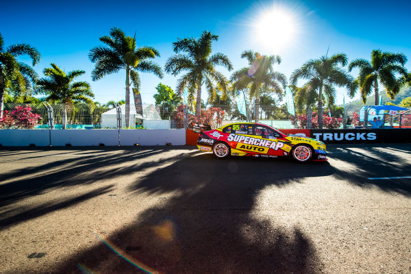 2017 Supercars Championship Round 7.  Townsville 400, Reid Park, Townsville, Queensland, Australia. Friday 7th July to Sunday 9th July 2017. Chaz Mostert drives the #55 Supercheap Auto Racing Ford Falcon FGX. World Copyright: Daniel Kalisz/ LAT Images Ref: Digital Image 070717_VASCR7_DKIMG_1898.jpg
