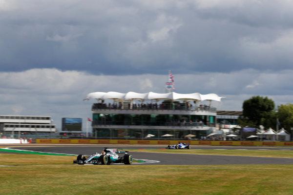 Silverstone, Northamptonshire, UK.  Friday 14 July 2017. Lewis Hamilton, Mercedes F1 W08 EQ Power+. World Copyright: Zak Mauger/LAT Images  ref: Digital Image _54I4372