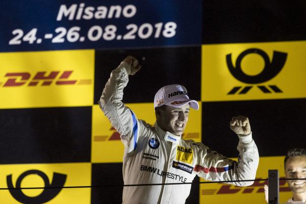 Podium: Race winner Joel Eriksson, BMW Team RBM.