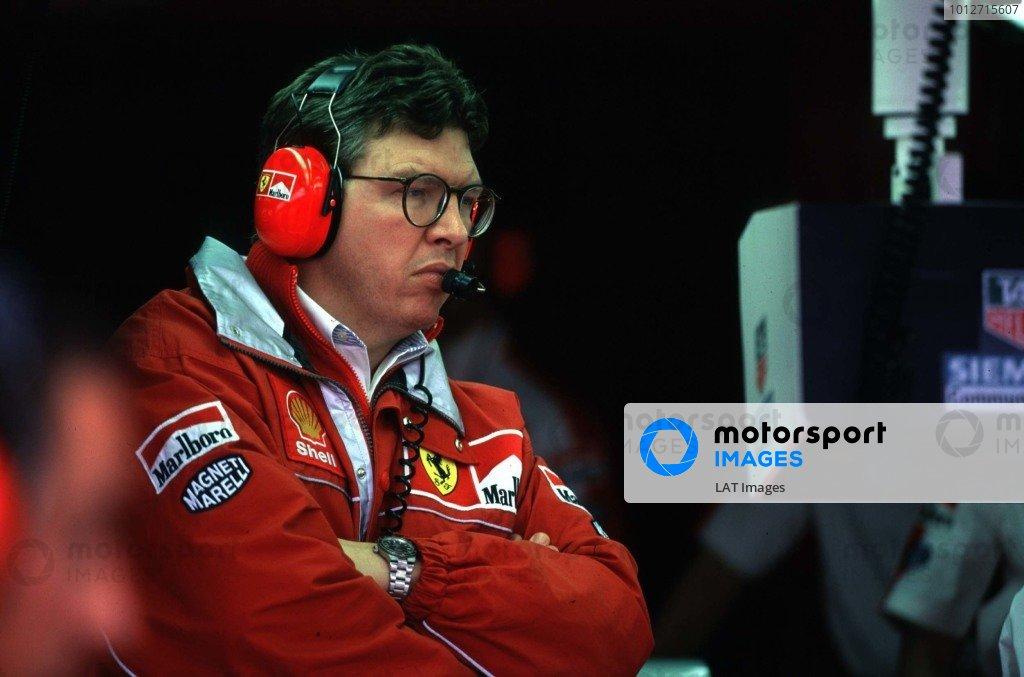 1998 Argentinian Grand Prix.Buenos Aires, Argentina.10-12 April 1998.Ferrari's Technical Director Ross Brawn.World Copyright - Coates/LAT Photographic