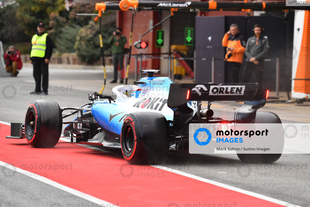 George Russell, Williams FW42 first lap