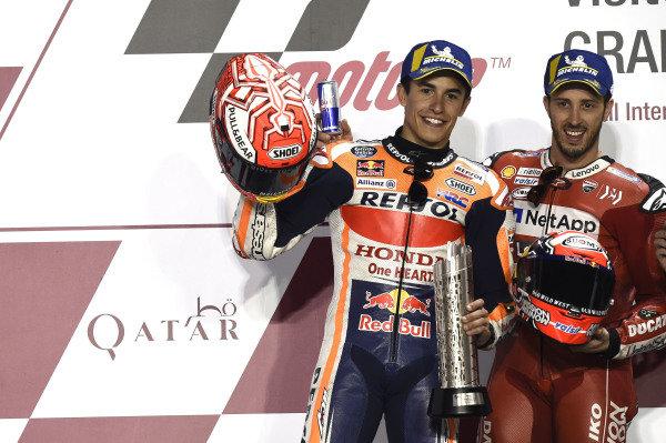 Podium: Marc Marquez, Repsol Honda Team, Andrea Dovizioso, Ducati Team.