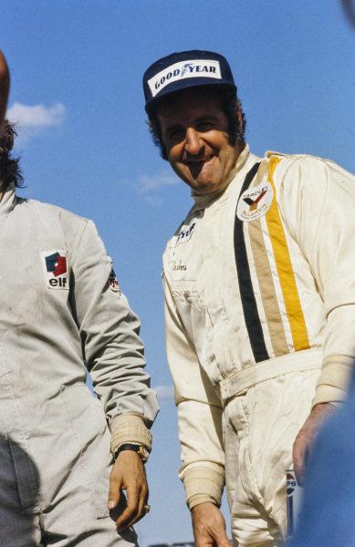 Winner Denny Hulme on the podium.