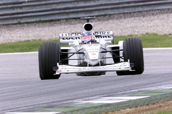2000 Austrian Grand Prix.A1-Ring, Zeltweg, Austria.14-16 July 2000.Jacques Villeneuve (B.A R. 002 Honda) 4th position.World Copyright - LAT Photographic