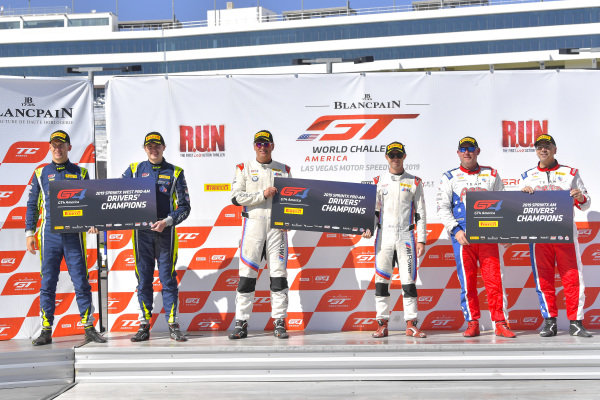 #17 Porsche 718 Cayman CS MR of Derek DeBoer and James Rappaport with TRG - The Racers Group  Harry Gottsacker and Jon Miller  Preston Calvert  and Matthew Keegan  2019 Blancpain GT World Challenge America - Las Vegas, Las Vegas NV