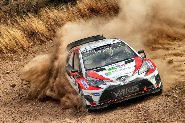 Juho Hanninen (FIN) / Kaj Lindstrom (FIN), Toyota Gazoo Racing Toyota Yaris WRC at World Rally Championship, Rd3, Rally Mexico, Day One, Leon, Mexico, 10 March 2017.