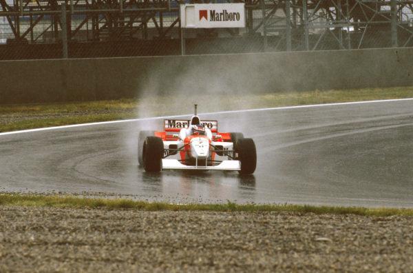 Catalunya, Barcelona, Spain.31 May - 2 June 1996.Mika Hakkinen (McLaren MP4/11) 5th position. Ref-96 ESP 12.World Copyright - LAT Photographic