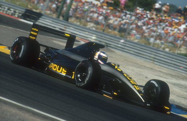 1990 French Grand Prix.Paul Ricard, Le Castellet, France.6-8 July 1990.Yannick Dalmas (AGS JH25 Ford) 17th position.Ref-90 FRA 04.World Copyright - LAT Photographic