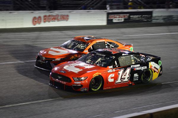 #14: Chase Briscoe, Stewart-Haas Racing, Ford Mustang Cummins/Rush Truck Centers, #23: Bubba Wallace, 23XI Racing, Toyota Camry Door Dash