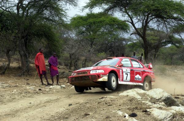 2001 World Rally Championship.Nairobi, Kenya. July 20-22, 2001Tommi Makinen on the final leg.Photo: Ralph Hardwick/LAT