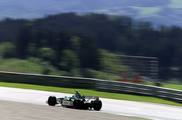 2001 Austrian Grand Prix.A1-Ring, Zeltweg, Austria.11-13 May 2001.Eddie Irvine (Jaguar R2).World Copyright - Steve Etherington/LAT PhotographicRef:18mb Digital Image