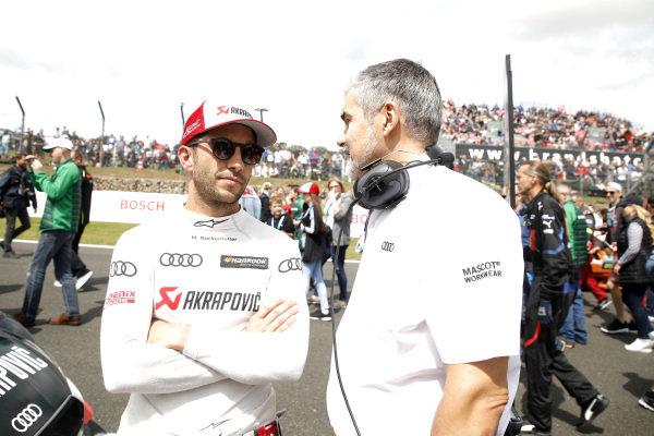 Mike Rockenfeller, Audi Sport Team Phoenix with Dieter Gass, Head of DTM Audi Sport.