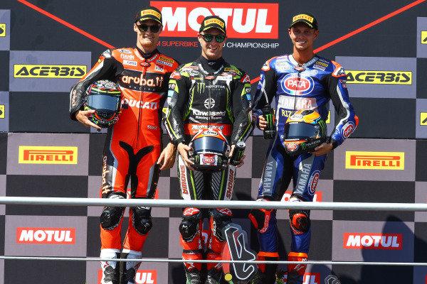Chaz Davies, Aruba.it Racing-Ducati Team, Jonathan Rea, Kawasaki Racing Team, Michael van der Mark, Pata Yamaha.