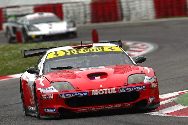 2005 FIA GT ChampionshipMonza, Italy. 10th April.Bryner/Calderari/Zacchia (No. 12 Ferrari 550 Maranello). Action. World Copyright: Photo4/LAT Photographicref: Digital Image Only