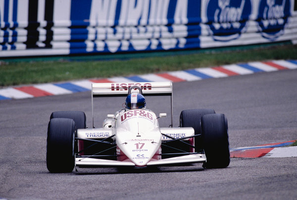 1988 German Grand Prix.Hockenheim, Germany.22-24 July 1988.Derek Warwick (Arrows A10B Megatron) 7th position.Ref-88 GER 21.World Copyright - LAT Photographic