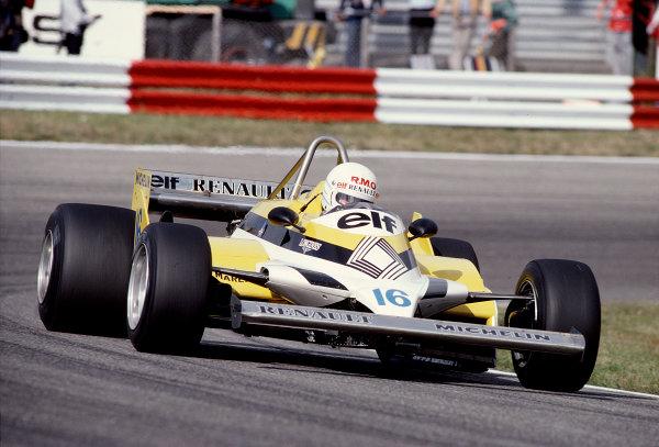 1981 Dutch Grand Prix.Zandvoort, Holland.28-30 August 1981.Rene Arnoux (Renault RE30).Ref-81 HOL 43.World Copyright - LAT Photographic