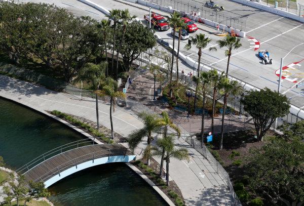 2014/2015 FIA Formula E Championship. Long Beach ePrix, Long Beach, California, United States of America. Friday 3 April 2015 Jean-Eric Vergne (FRA)/Andretti Motorsport - Spark-Renault SRT_01E  Photo: Jed Leicester/LAT/Formula E ref: Digital Image _JL10636