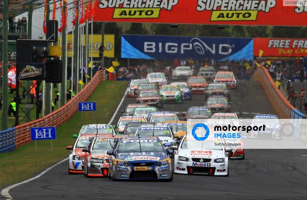 Mark Winterbottom (AUS) and Luke Youlden (AUS) Orrcon FPR Ford won the top ten shootout for the Supercheap Autos Bathurst 1000.Australian V8 Supercars, Rd11, Supercheap Autos Bathurst 1000, Mt Panorama, Bathurst, Australia. Sunday 10 October 2010.