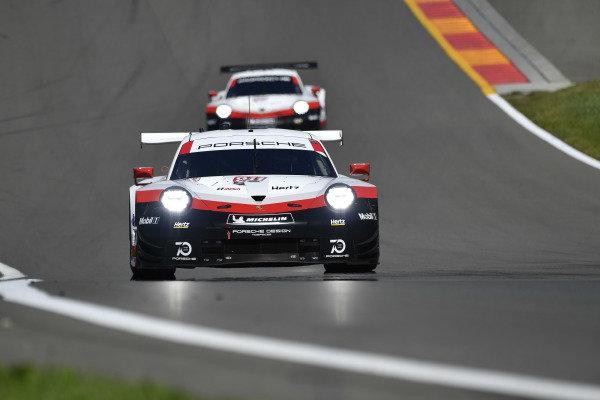 #911 Porsche Team North America Porsche 911 RSR, GTLM: Patrick Pilet, Nick Tandy, #912 Porsche Team North America Porsche 911 RSR, GTLM: Laurens Vanthoor, Earl Bamber