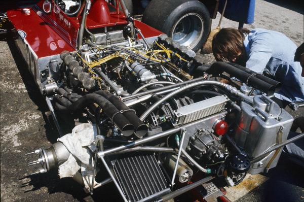 1973 Austrian Grand Prix.  Osterreichring, Austria. 17-19th August 1973.  Flat 12 engine in Chris Amon's Tecno E731.  Ref: 73AUT16. World Copyright: LAT Photographic