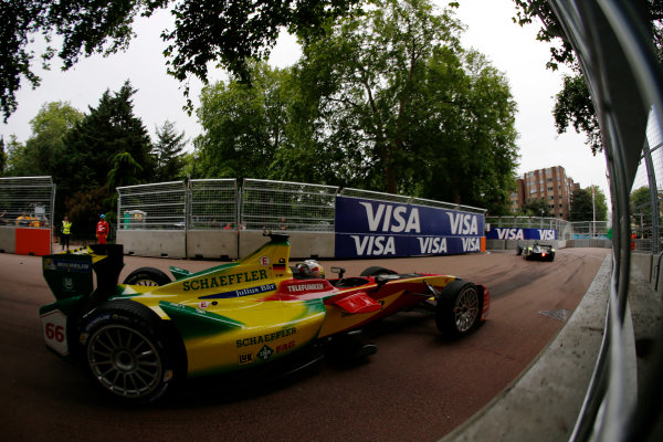 2014/2015 FIA Formula E Championship. London ePrix, Battersea Park, London, United Kingdom. Sunday 28 June 2015 Daniel Abt (GER)/Audi Abt Sport - Spark-Renault SRT_01E  Photo: Zak Mauger/LAT/Formula E ref: Digital Image _L0U0021