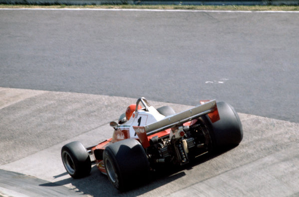 1976 German Grand Prix Nurburgring, Germany. 1 August 1976 Niki Lauda (Ferrari).World Copyright - LAT Photographic