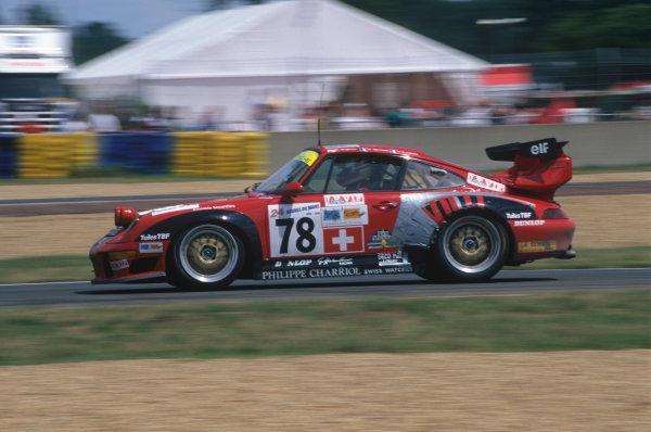Le Mans, France. 14th - 15th June 1997.Michel Neugarten/Jean-Claude Lagniez/Guy Martinolle (Porsche 911 GT2), 9th position, action. World Copyright: LAT Photographic.Ref:  97LM13.