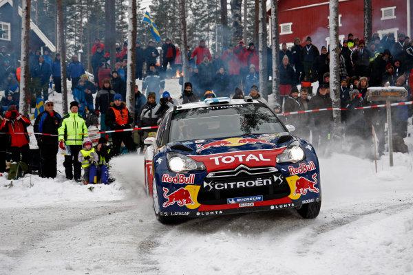 Round 02 - Rally Sweden 09-12 February 2012. Mikko Hirvonen, Citroen WRC, Action  Worldwide Copyright: McKlein/LAT