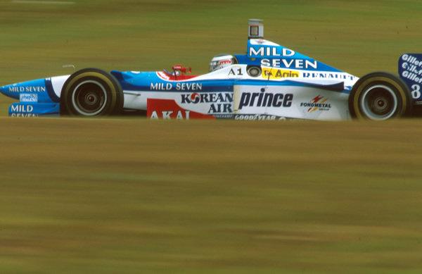 Interlagos, Brazil.28-30 March 1997.Gerhard Berger (Benetton B197 Renault) 2nd position.Ref-97 BRA 04.World Copyright - LAT Photographic