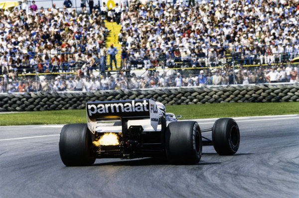 1983 Canadian Grand Prix  Montreal, Canada. 10-12th June 1983.  Riccardo Patrese, Brabham BT52 BMW, retired.  Ref: 83CAN21. World copyright: LAT Photographic