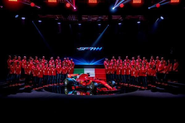 2018 FIA Formula 1 World Championship Ferrari SF71H Launch Event The Ferrari SF71H is launched. Copyright Free for Editorial Use Only Credit: Ferrari