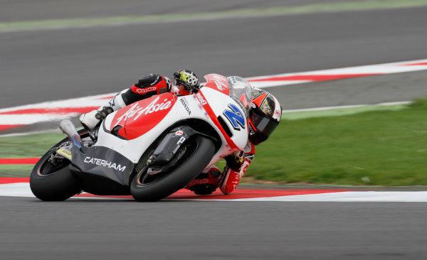 2014 Moto2 Championship  British Grand Prix.  Silverstone, England. 29th - 30st August 2014.  Josh Herrin, Caterham Suter.  Ref: _W7_8634. World copyright: Kevin Wood/LAT Photographic