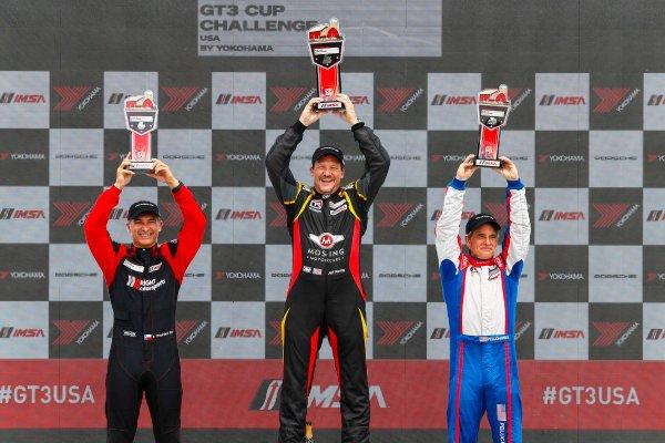 5-7 August 2016, Elkhart Lake, Wisconsin USA IMSA GT3 Cup USA Race 2, Platinum Masters Podium ?2016, Jake Galstad LAT Photo USA