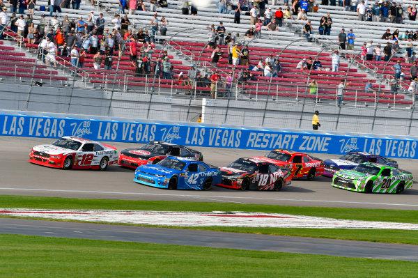 2017 NASCAR Xfinity Series - Boyd Gaming 300 Las Vegas Motor Speedway - Las Vegas, NV USA Saturday 11 March 2017 Joey Logano and Kyle Larson World Copyright: Nigel Kinrade/LAT Images ref: Digital Image 17LAS1nk05985