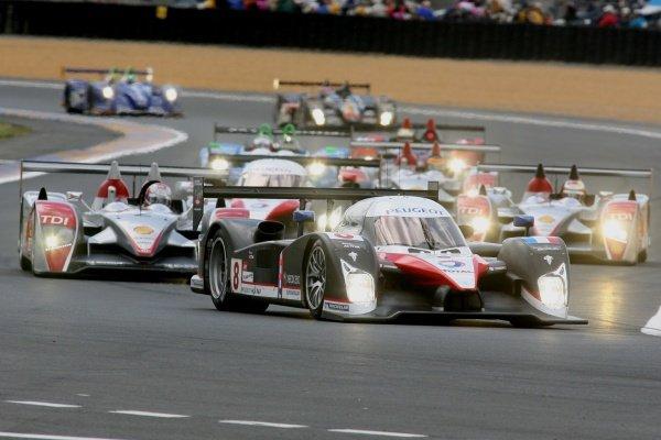 P.Lamy(PRT)/St Sarrazin(FRA)/S.Bourdais(FRA) Team Peugeot Total 908  Le Mans 24Hr 13-17 June 2007 Le Mans France 07lmr