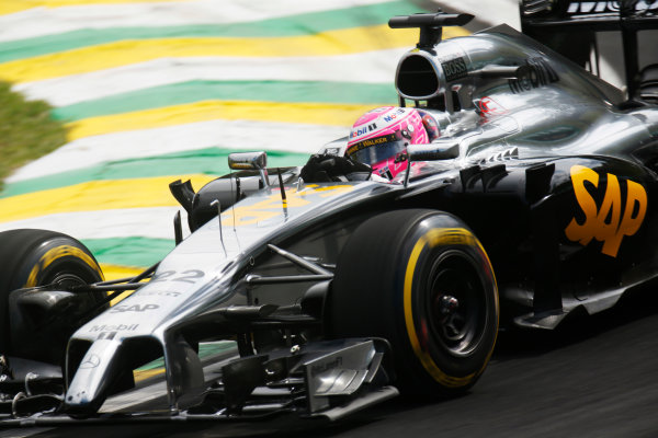 Interlagos, Sao Paulo, Brazil. Friday 7 November 2014. Jenson Button, McLaren MP4-29 Mercedes. World Copyright: Alastair Staley/LAT Photographic. ref: Digital Image _R6T7111