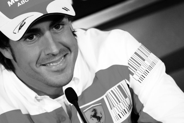 Fernando Alonso (ESP) Ferrari in the FIA Press Conference.Formula One World Championship, Rd 5, Spanish Grand Prix, Preparations, Barcelona, Spain, Thursday 6 May 2010.Note: This image has been digitally altered from the original, which is also available on the archive. (d10esp193.jpg)