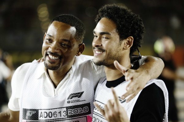 Will and Trey Smith watch the race
