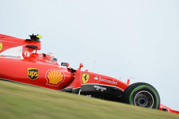 Kimi Raikkonen (FIN) Ferrari SF15-T at Formula One World Championship, Rd16, United States  Grand Prix, Practice, Austin, Texas, USA, Friday 23 October 2015.